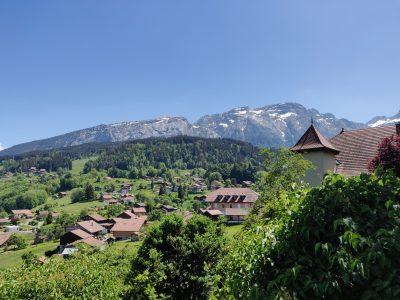 Belvédère Mont-Saxonnex depuis l'église